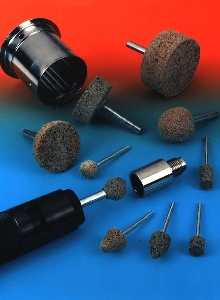 Abrasive Points produce highly polished finish.