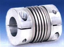 Coupling features stainless steel bellow.