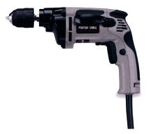 Electric Drills come in 3/8 in. and 1/2 in. models.