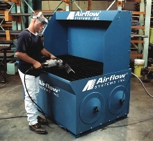 Downdraft Table collects dust, smoke, and fumes.