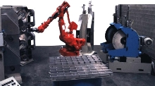 Robots/Rotary Tables grind, polish, and buff.