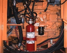 Fire Suppression System continuously protects heavy equipment.