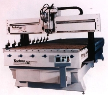 CNC Router utilizes heavy T-slot table.