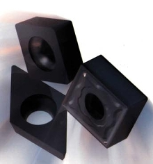 Inserts handle high temperature alloys and iron.