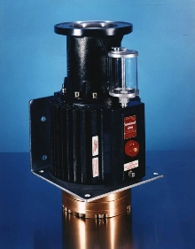 Vertical Mount Pump fits in limited space.
