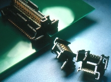 Connector provides Z-axis, board-to-board solution.