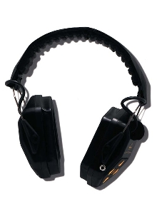 Communication Headset provides hearing protection.