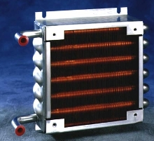 Heat Exchangers come with 90° bends.