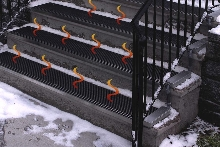 Heated Stair Treads provide sure footing in icy conditions.