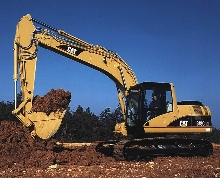 Hydraulic Excavators feature increased hp and operator comfort.
