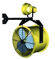 Dock Fan produces up to 3,800 cfm.