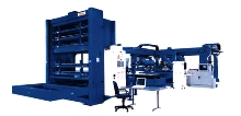 Cyber Manufacturing System can sort and stack finished parts.