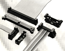 "Ejector Headers mate with .050"", .100"", and 2 mm cable systems."