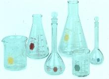 Color Glassware reduces cross contamination problems.