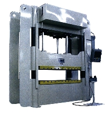 Hydraulic Press counteracts off-center loading problems.