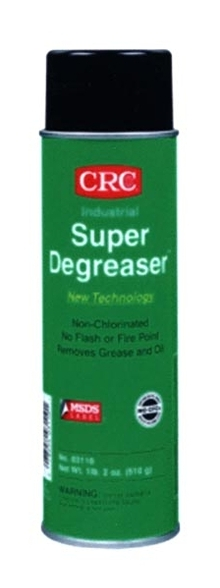 Degreaser safely dissolves grease and oil.