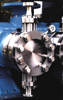 Pump Head handles viscous fluids to 100,000 cps.
