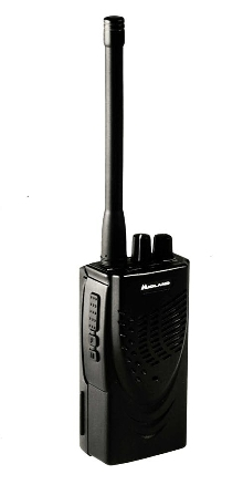 Portable Radio offers 16 channel capability.