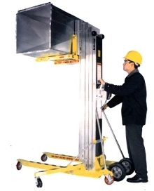 Contractor Lift picks up 650 lb loads.