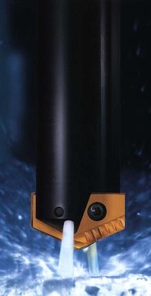 Drill Insert handles ductile materials.