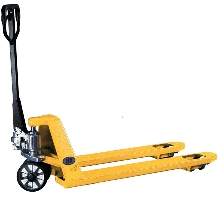 Pallet Truck handles up to 5,000 lbs.