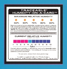 Humidity Card displays moisture level in color.