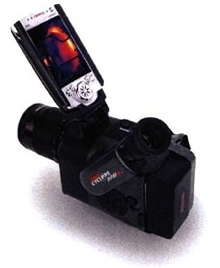 Portable Thermal Imager plugs into pocket PC.