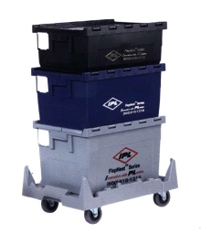 Returnable Containers are offered with compatible dolly.