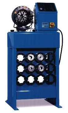 Crimper offers semi-automatic or automatic operation.