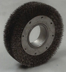 Wheel Brushes offer wide face.