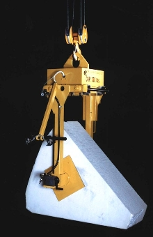 Pneumatic Clamping Lifter rotates delicate material.
