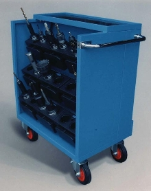 Wagon and Cabinet accommodate HSK type tool holder inserts.