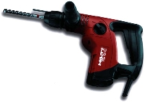 Rotary Hammer Drill suits drilling and chiseling applications.