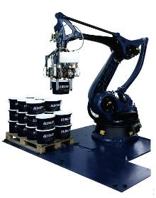 Robot Palletizer suits deep-freeze food applications.