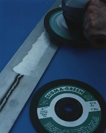 Grinding Wheels quickly remove heavy welds.