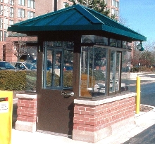 Booths provide suitable appearance for high-profile locations.