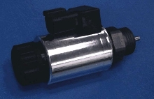 Solenoid features interchangeable coil design.