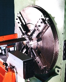 Cut-Off Machine features rotating tool technology.
