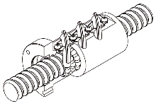 Heavy Load Ball Screw incorporates Caged Technology.