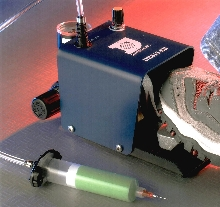 Foot Pedal Dispenser suits any material viscosity.