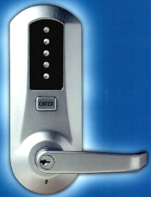 Pushbutton Lock provides access to controlled areas.