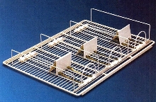 Wire Shelf System adjusts for different package sizes.