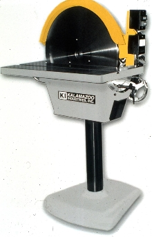 Disc Sander operates as floor stand unit.