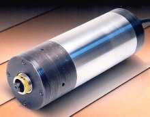 Motorized Cartridge Spindle operates at high speed.