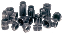 Threaded Polypropylene Fittings are heavy-duty rated.
