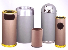Receptacles suit lobbies and reception areas.