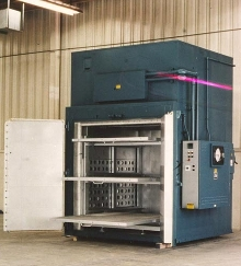 Walk-In Oven heat treats components.