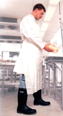 Protective Aprons utilize lightweight urethane material.