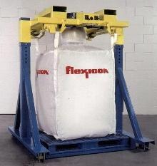 Bulk Bag Filler allows bag removal with pallet jack.
