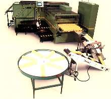 Crepe-Paper Machine produces retail packages.